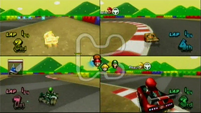 4 player racing games for wii