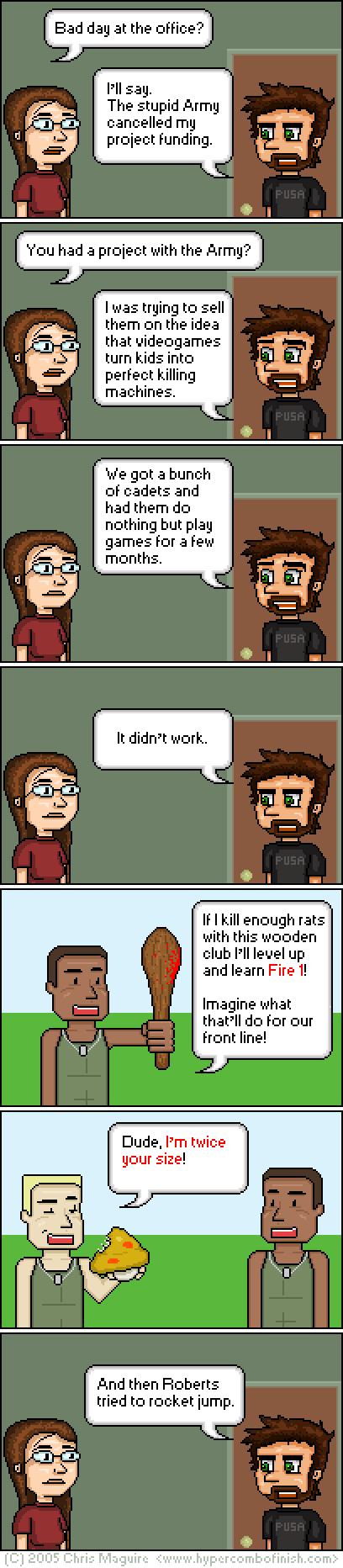 Hypercombofinish Comic #20 by Chris Maguire