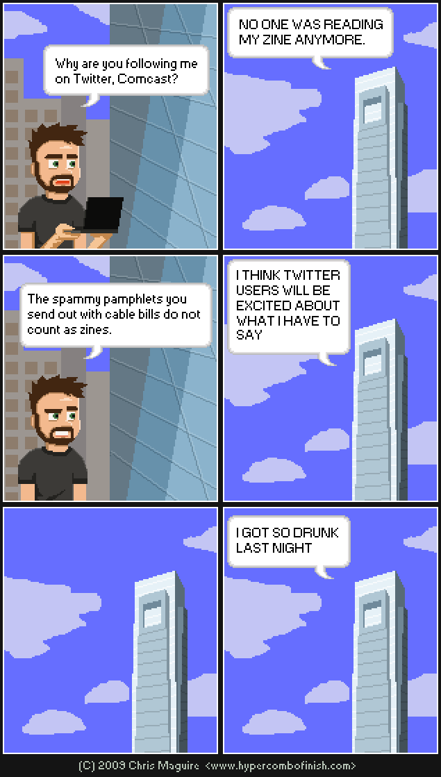 Hypercombofinish Comic #47 by Chris Maguire 